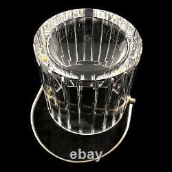 Baccarat Harmonie Crystal Ice Bucket Cut Vertical Lines France Signed