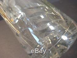 Beautiful American Brilliant Cut Glass Crystal Vase, 12 Tall X 4 1/4 Diameter