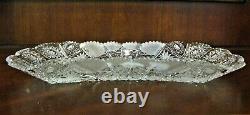 Bohemia Czech Platter, 12 Long, Vintage 24% lead Crystal hand cut, Queen Lace