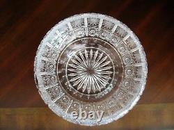 Bohemian Czech Vintage Crystal 8 Round Bowl Hand Cut Queen Lace 24% Lead Glass