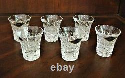 Bohemian Czech Vintage Crystal Shot Glass 45 ml set of 6 Hand Cut Queen Lace