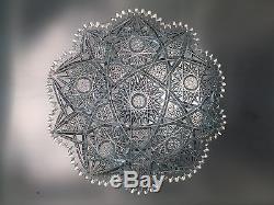 Brilliant Period ABP Cut Crystal 10.5 Large Heavy Plate HTF Empire Argo Super