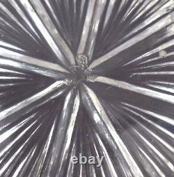 Bryce Higbee EAPG Panelled Thistle Star of David Pinwheel Cut Crystal Glass Bowl
