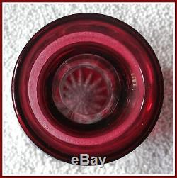 CRANBERRY RED PINK Decanter CUT TO CLEAR 24% CRYSTAL Germany NIERSTEIN Nachtmann
