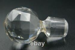 C. 1900 Saint Louis Old Cut Crystal Gold Perfume Bottles Glass Vanity Set France