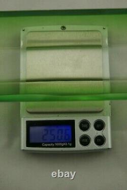 C. 1930 Baccarat Green Clear Cut Crystal Vanity Long Tray Dresser Bathroom France
