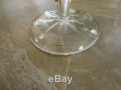 Cartier Crystal Cut Brandy Snifter Glass. Pair
