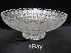 Cesar Bohemian Crystal Large Bowl, Hand Cut, Made in Czech Republic, 14 Wide