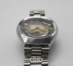 Citizen Seven Star V2 26J Automatic Watch Green Gradient Cut Glass Vintage 1974