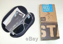 Costa Del Mar Cut Polarized Sunglasses-Matte Crystal/Blue Mirror 400G Glass Lens