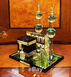 Crystal Cut Glass Kaaba Mecca Makkah Allah Ramadan Islamic EID Gift & Gift Box