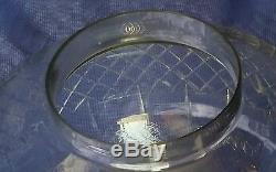 Crystal Globe Banquet Oil Lamp Parlor GWTW Empire Cut Ball Shade Dorflinger