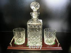 Crystal Whisky Decanter Irish Hand Cut Crystal Gift Set