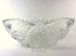 Cut Crystal Punch Bowl or Centerpiece Bowl