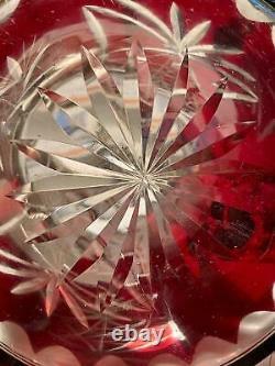 Czech Bohemian Lead Hand Cut to Clear Crystal Set