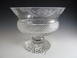 EDINBURGH Crystal THISTLE Cut Large Fruit Bowl 6 1/2
