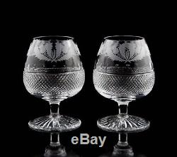 Edinburgh Crystal Thistle Cut Brandy Glasses, Set of (2)