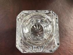 Edinburgh Crystal Thistle Cut Square Whisky Decanter, Excellent