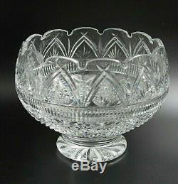 Elegant Waterford Cut Crystal Large Footed Centerpiece 10 Bowl