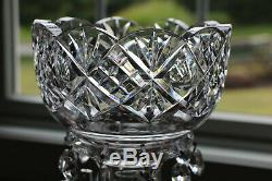 Estate Stunning Antique Clear Heavy Crystal Cut Mantle Lustres XL Prisms