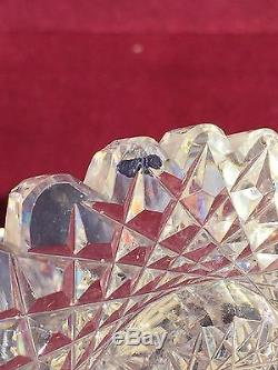 Exquisite American Brilliant Period Cut Glass Crystal Bowl