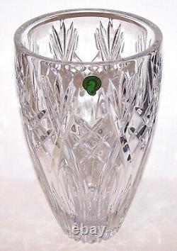 Exquisite Large Signed Waterford Crystal Beautifully Cut 10 Vase In Box