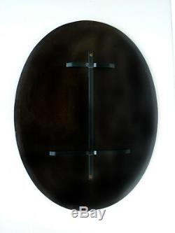 FONTANA ARTE mirror design cut crystal glass 50's 60's midcentury