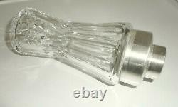 Fantastic German ART DECO Cocktail Shaker crystal glass lens cut + silverplate