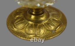 French Vintage Lubliner Paris Cut Crystal Egg Hinged Box Ormolu Brass