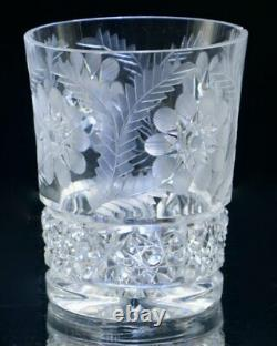 Fry Signed Cut Crystal ABP Glass Pitcher and 8 Matching Glasses 1901-1920