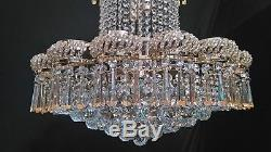 Gold Crystal Glass cut Chandelier (Stunning)