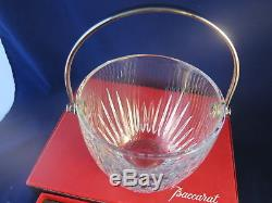 Gorgeous Baccarat Massena Cut Crystal Champagne Ice Bucket New in Box