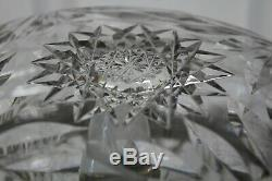 Great Large Hand Cut Glass Crystal Dome Mushroom Table Lamp Nice Design Prism
