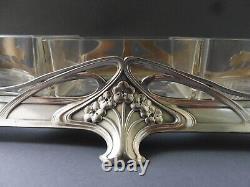 Große Wmf Jugendstil Jardiniere Cabaret Crystal Cut Glass Floral Art Nouveau