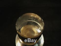 HAWKES CUT CRYSTAL OIL & VINEGAR BOTTLE with STERLING TOP