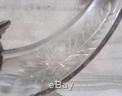 HTF Vintage HEISEY Crystal Candlestick Holders #1493 WORLD withCarlton Cutting