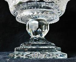 HUGE American Brilliant Period Cut Crystal Square-Footed Centerpiece Compote ABP