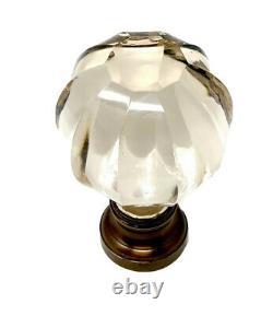 Hand cut crystal glass Boules D'escalier / newel post finials