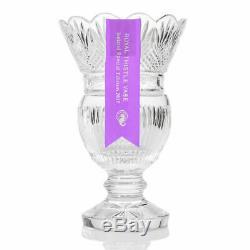 House of Waterford Royal Thistle 13 Handmade Diamond & Wedge Cut Crystal Vase