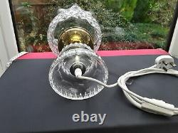 Impressive Large Vintage Cut Crystal Glass Table Lamp And Shade Original