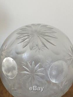 LARGE Clear Cut Crystal Glass Newel Post Finial
