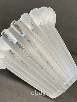Lalique Rene Art Deco Royat Cut Crystal Glass Vase ca1936