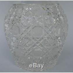 Large German Meissen Echt Meissener Breikristall Clear Crystal Cut Vase Flower