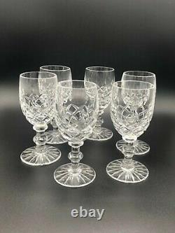 Lismore by Waterford RolyPoly Decanter 6 Cut Glass Cordials & Slvrplate Tray