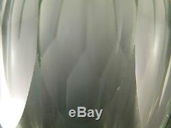 MOSER Crystal / Glass Large Art Deco Cut Glass Vase 9