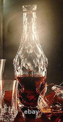 NEW in BOX RARE MUEHLING STEUBEN Glass TORTOISE FULL CUT DECANTER HEART Crystal