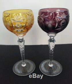 Nachtmann Traube Crystal Clear Decanter and 8 Cut To Clear Wine Hock Glass Set