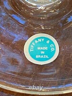 NewithUnused Vintage Set of 6 TIFFANY & CO. 16 oz Crystal Brandy Liqueur Snifters