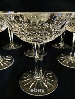 Qty 12 CRISTALLERIE LORRAINE FRANCE CHAMPAGNE COUPE GOBLETS Cut Crystal, 4 3/4T