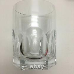 Ralph Lauren Edward Crystal 4 Double Old Fashioned Tumbler Glasses Mint